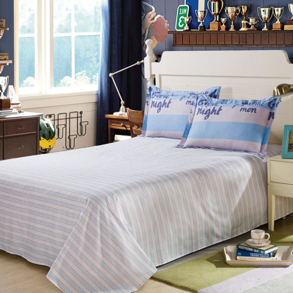 Stylish White And Blue Cotton Bedding Set 3 600x600 - Stylish White And Blue Cotton Bedding Set