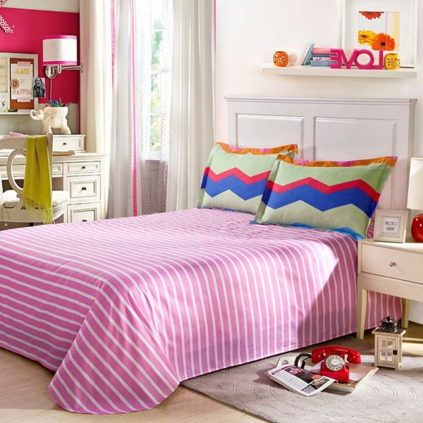 Stylish Zigzag Patterned Cotton Bedding Set 5