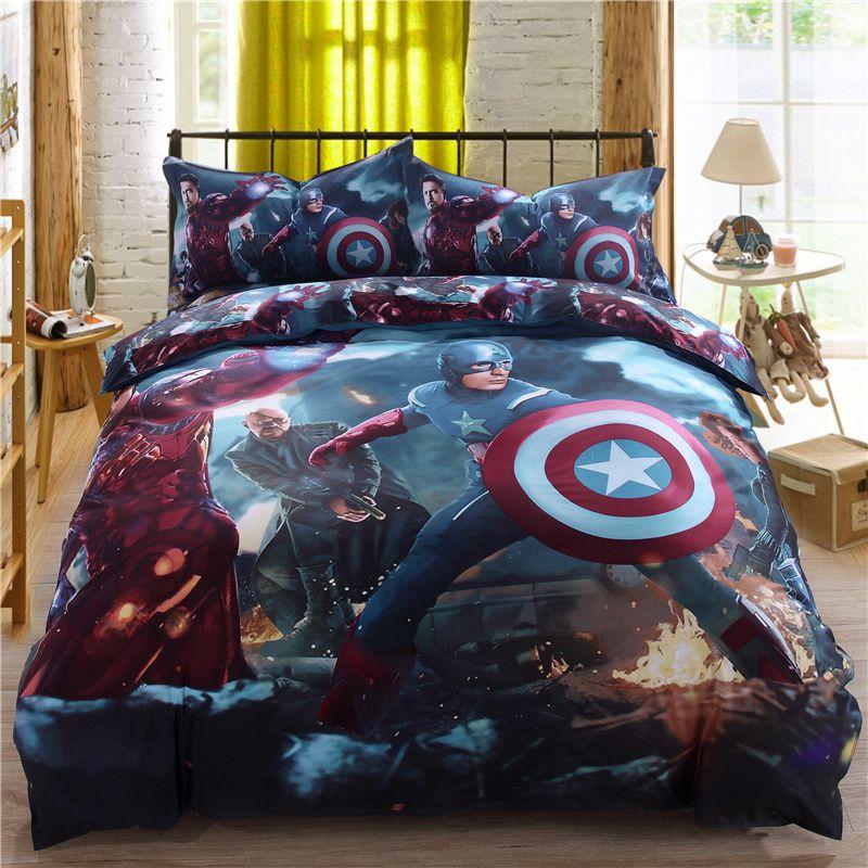 Superhero Bedding Set For Teen Boys Bedroom