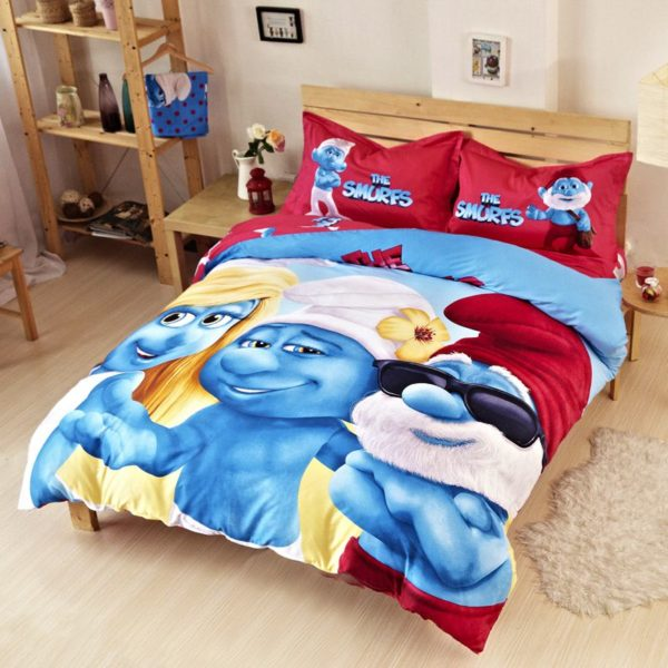 Teen Boys Smurfs Bedding Set