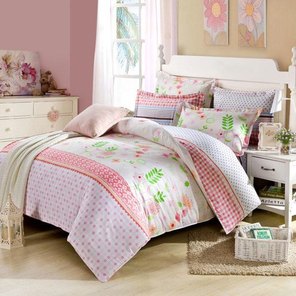 Trendy Floral Cotton Bedding Set 1