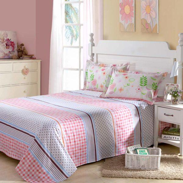 Trendy Floral Cotton Bedding Set 4