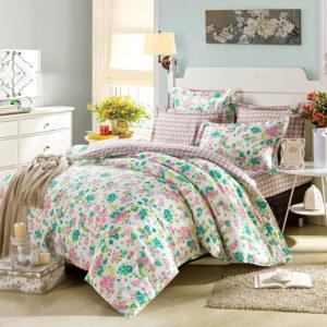 Ultra cool White Floral Cotton Bedding Set 1