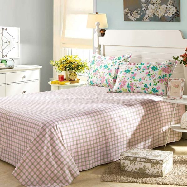 Ultra cool White Floral Cotton Bedding Set 3 600x600 - Ultra cool White Floral  Cotton  Bedding Set