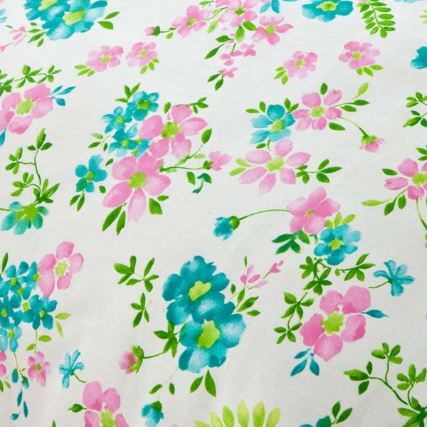 Ultra cool White Floral Cotton Bedding Set 4 600x600 - Ultra cool White Floral  Cotton  Bedding Set