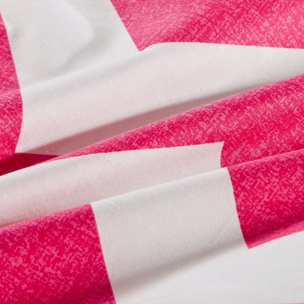 Vibrant Pink And White Geometrical Cotton Bedding Set 4 600x600 - Vibrant Pink And White Geometrical Cotton  Bedding Set