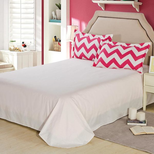 Vibrant Pink And White Geometrical Cotton Bedding Set 5 600x600 - Vibrant Pink And White Geometrical Cotton  Bedding Set