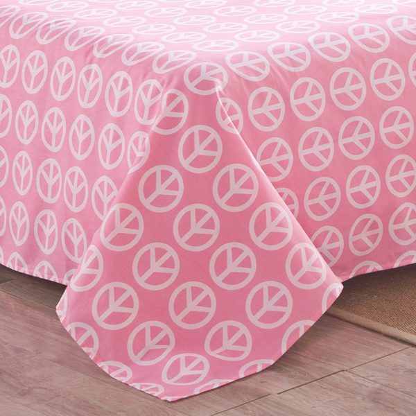 Vibrant and vivid PEACE Cotton Bedding Set 3