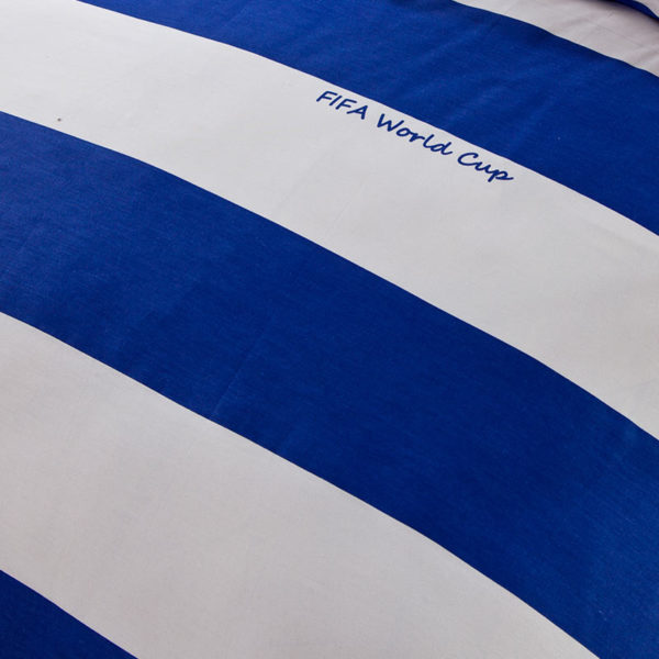 White And Blue Strips Cotton Bedding Set 1