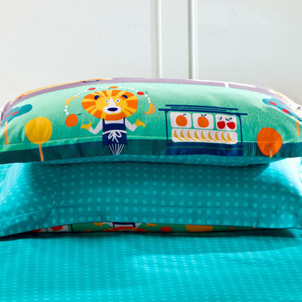 colorful Train Themed Cotton  Bedding Set