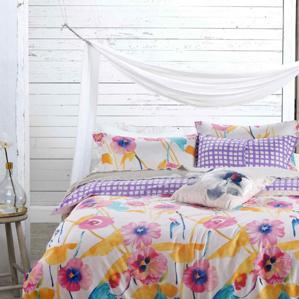 Adorable Pink Floral Cotton Bedding Set 1 600x600 - Adorable Pink Floral Cotton  Bedding Set