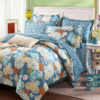 Amazing Flower Print Cotton Bedding Set In Blue 1 100x100 - Amazing Flower Print Cotton Bedding Set In Blue