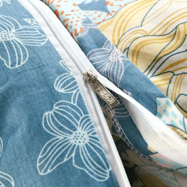 Amazing Flower Print Cotton Bedding Set In Blue 2 600x600 - Amazing Flower Print Cotton Bedding Set In Blue