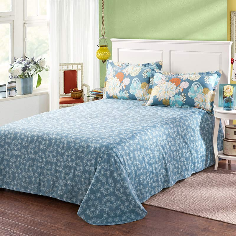 amazing bed sets amazing flower print cotton bedding set in blue ebeddingsets 10065