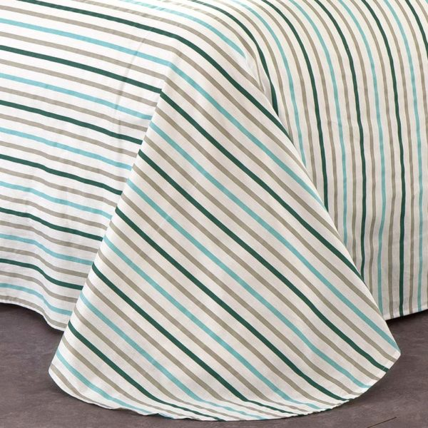 Amazing Flowers And Stripes Cotton Bedding Set 2 600x600 - Amazing Flowers And Stripes Cotton  Bedding Set
