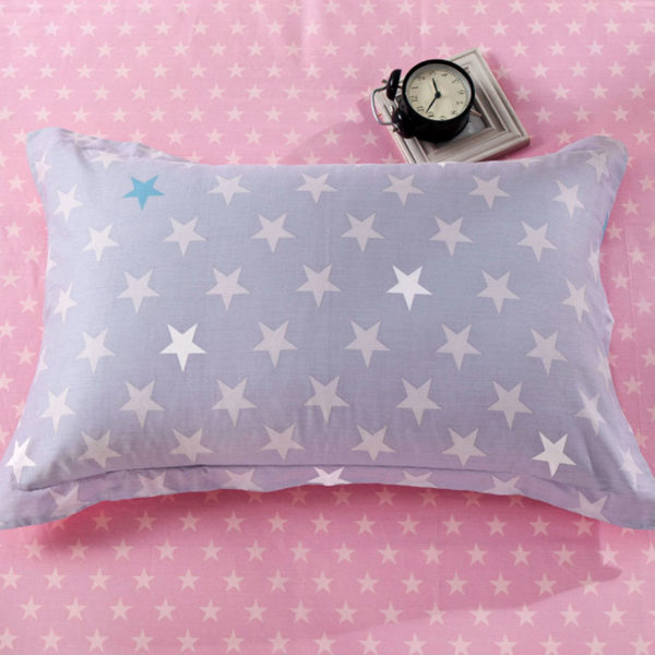 Attractive Blue and Black Cat Print Cotton  Bedding Set