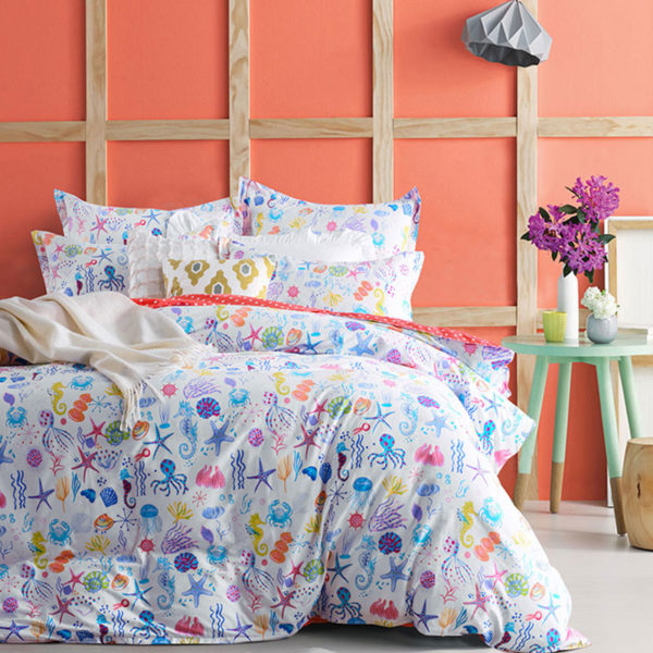 Awesome Ocean Themed Cotton Bedding Set 1 600x600 - Awesome Ocean Themed Cotton Bedding Set