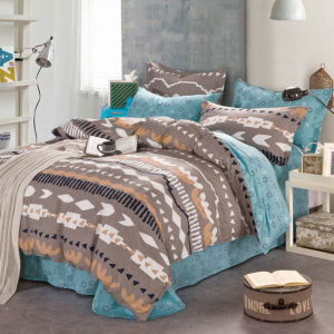 Bewitching Brown And Blue Cotton Bedding set 1 300x300 - Bewitching  Brown And Blue Cotton Bedding set