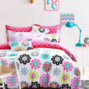 Charming Colorful Floral themed Cotton Bedding Set 1 300x300 - Charming Colorful Floral themed Cotton  Bedding Set