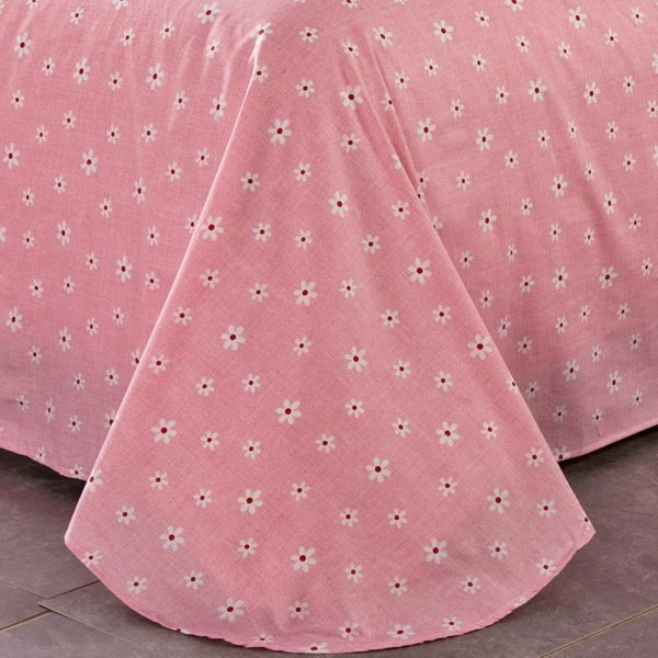 Charming Light Pink And Black Floral Cotton Bedding Set 3 600x600 - Charming Light Pink And Black  Floral Cotton Bedding Set