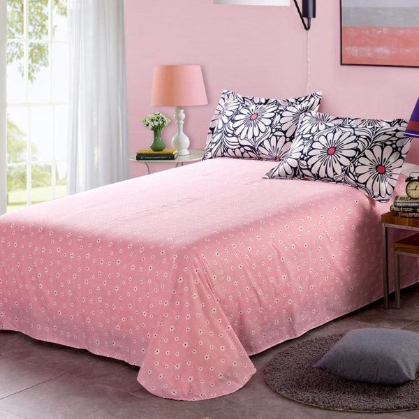 Charming Light Pink And Black Floral Cotton Bedding Set 4 600x600 - Charming Light Pink And Black  Floral Cotton Bedding Set