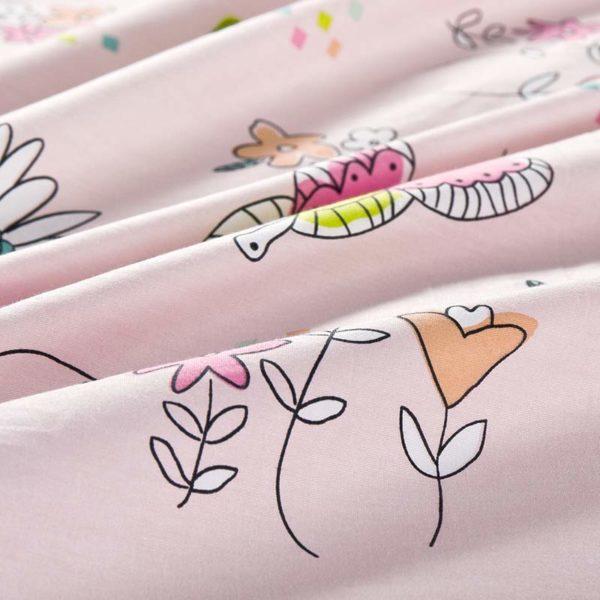 Charming Light Pink Cotton Bedding Set 4