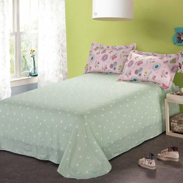 Charming Light Pink Cotton Bedding Set 5