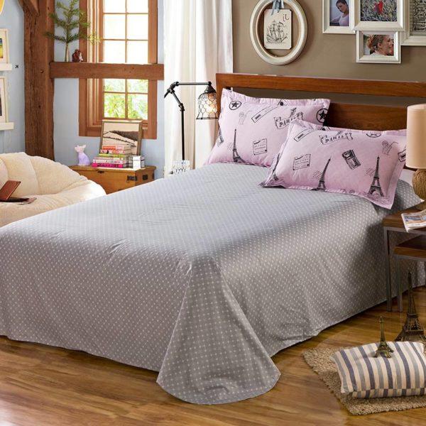 Charming Paris Themed Cotton Bedding Set 3 600x600 - Charming Paris Themed Cotton Bedding Set