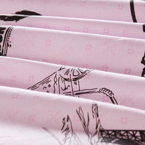 Charming Paris Themed Cotton Bedding Set 5 600x600 - Charming Paris Themed Cotton Bedding Set