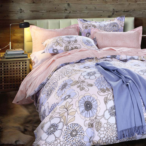 Chic White And Pink Cotton Bedding Set 1 1 600x600 - Chic White And Pink Cotton Bedding Set