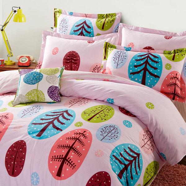 Christmas Themed Cotton Bedding Set 1 600x600 - Christmas Themed Cotton Bedding Set