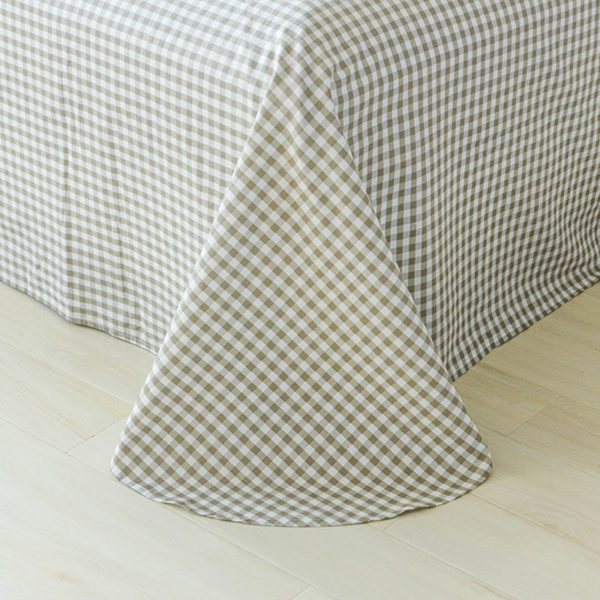 Classic Beige And Blue Cotton Bedding Set 2 600x600 - Classic Beige And Blue Cotton  Bedding Set