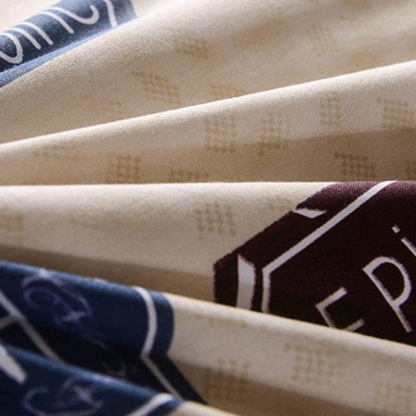 Classic Beige And Blue Cotton Bedding Set 5 600x600 - Classic Beige And Blue Cotton  Bedding Set