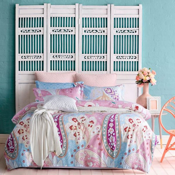 Classic Paisley Printed Cotton Bedding Set 2