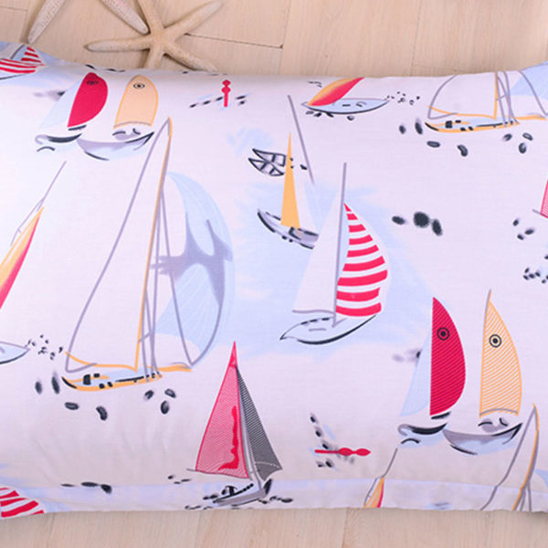 Colorful Boat Themed Cotton Bedding Set 4 600x600 - Colorful Boat Themed Cotton  Bedding Set