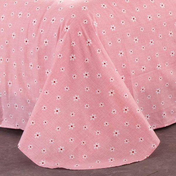 Comfortable Pink Floral Cotton Bedding Set 3 600x600 - Comfortable Pink Floral Cotton  Bedding Set