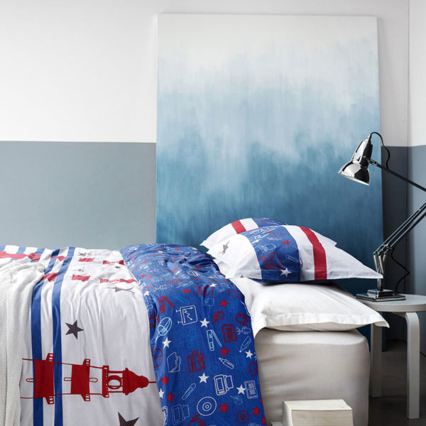 Contemporary White And Blue Cotton Bedding Set 2 600x600 - Contemporary White And Blue  Cotton  Bedding Set
