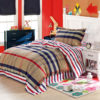 Cool Brown and White Checks Cotton Bedding Set 1 100x100 - Cool Brown  and White Checks Cotton  Bedding Set