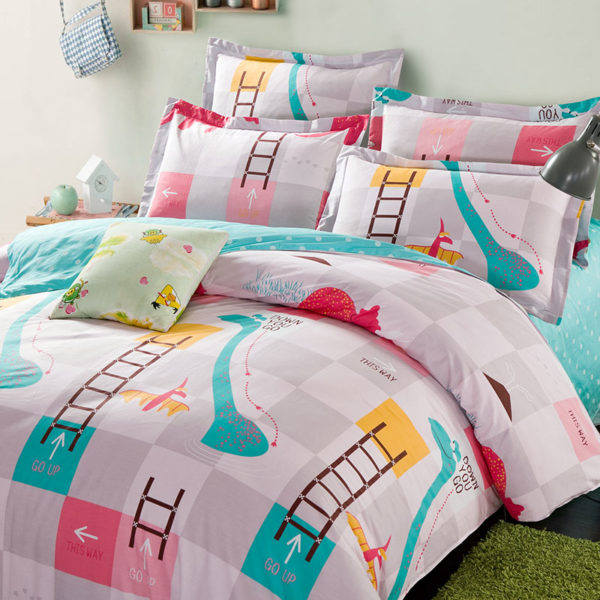 Cool Snakes and Ladders Cotton Bedding Set 1 600x600 - Cool Snakes and Ladders Cotton  Bedding Set