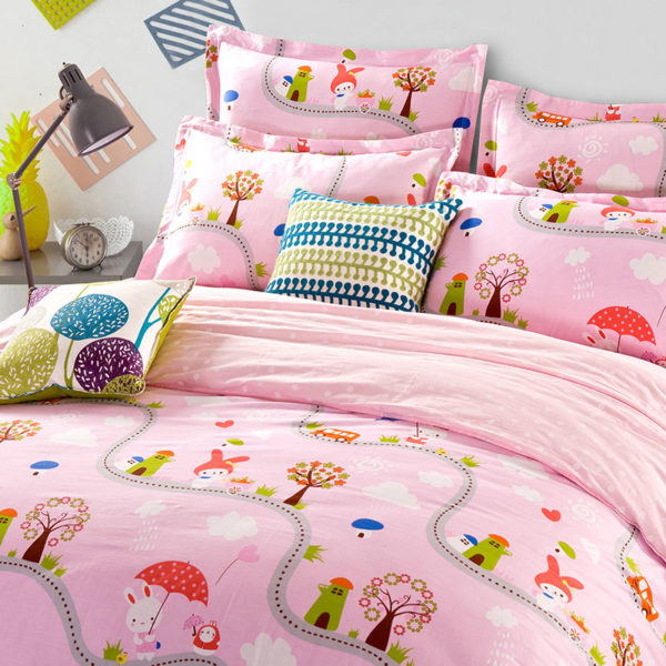 Cute Bunny Themed Cotton Bedding Set 1 1