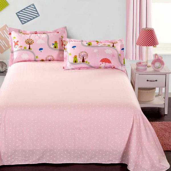 Cute Bunny Themed Cotton Bedding Set 4 1