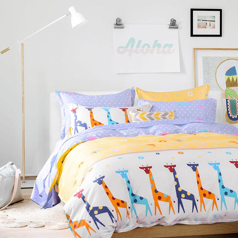 Cute Giraffe Themed Cotton Bedding Set Ebeddingsets