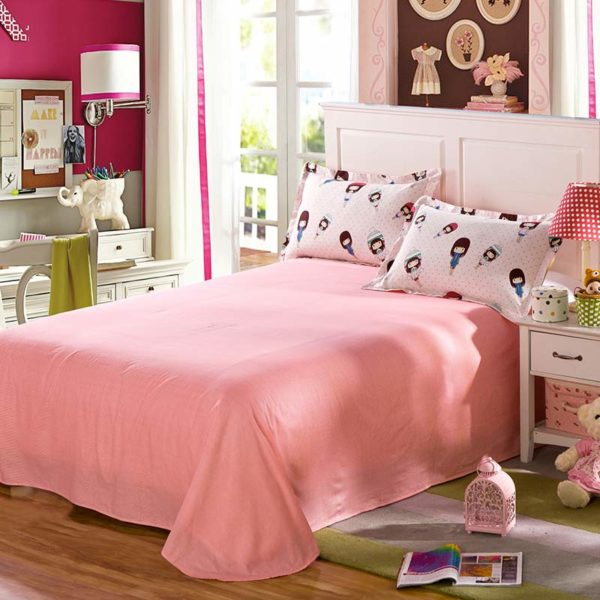 Cute Girl Motif Cotton Bedding Set 4 600x600 - Cute Girl Motif Cotton Bedding Set