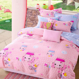 Cute Milk and Muffins Cotton Bedding Set 1 300x300 - Cute Milk and Muffins Cotton  Bedding Set