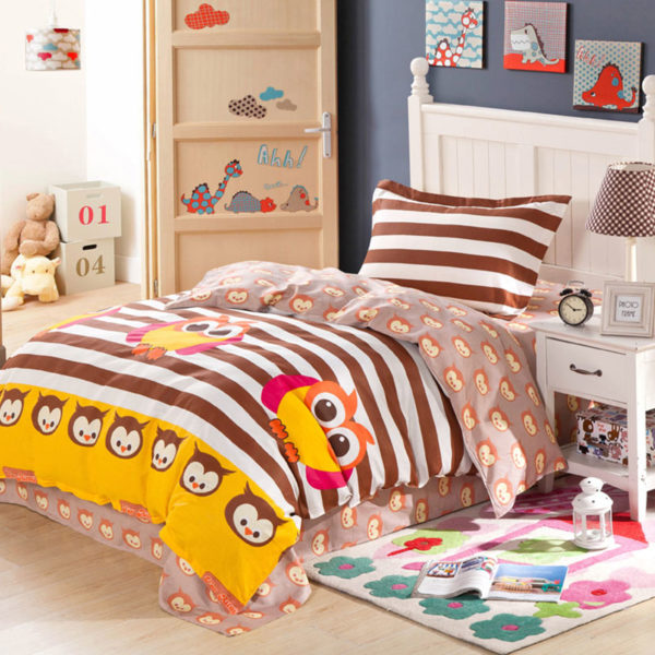 Cute and Enticing Owl Themed Cotton Bedding Set 1 600x600 - Cute and Enticing Owl Themed Cotton Bedding Set