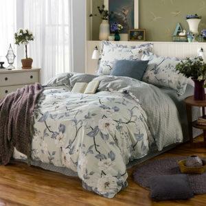 Delicate Grey Floral Cotton Bedding Set 1 300x300 - Delicate Grey Floral  Cotton Bedding Set