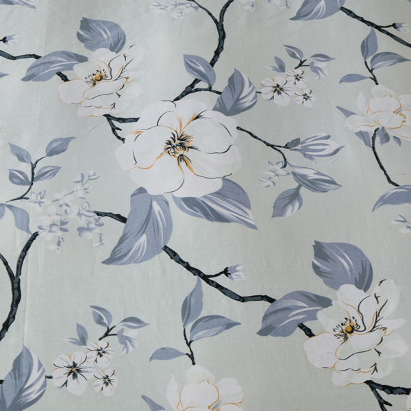 Delicate Grey Floral Cotton Bedding Set 4 600x600 - Delicate Grey Floral  Cotton Bedding Set