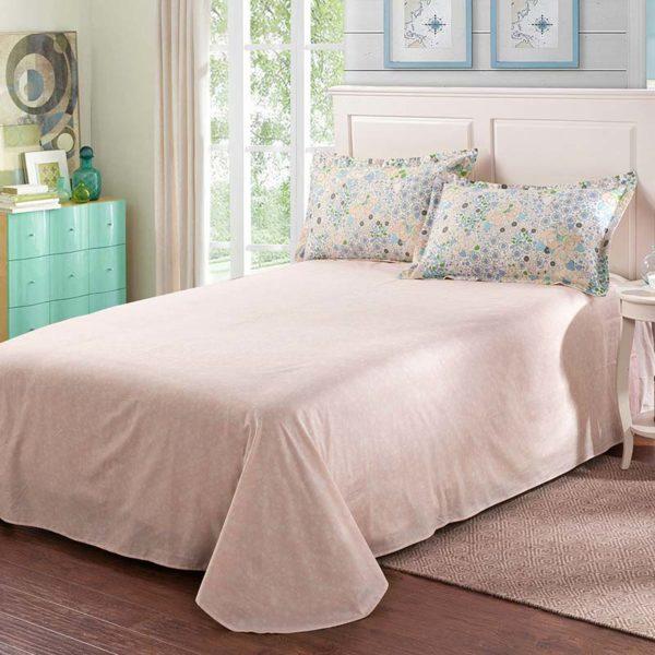 Delicate Pink Floral Cotton Bedding Set 5