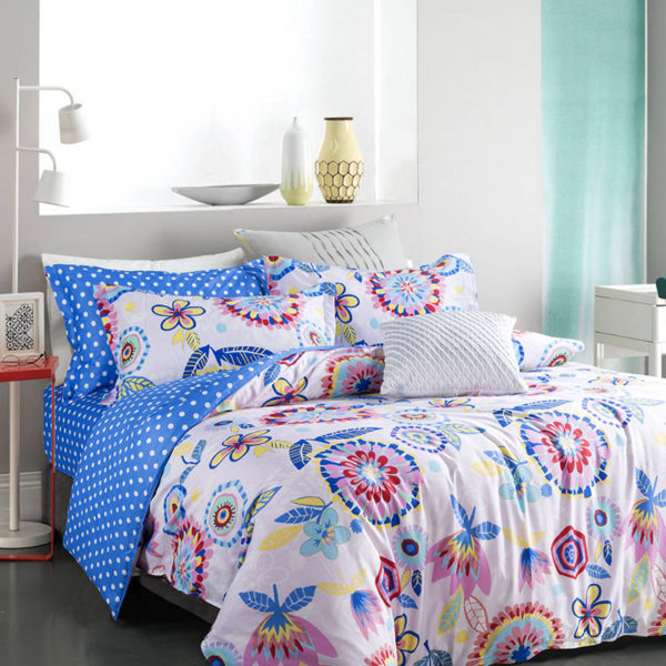 Delightful Floral Cotton Bedding Set 1 600x600 - Delightful Floral Cotton Bedding Set