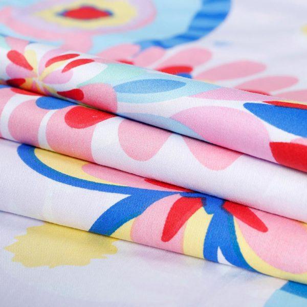 Delightful Floral Cotton Bedding Set 5 600x600 - Delightful Floral Cotton Bedding Set